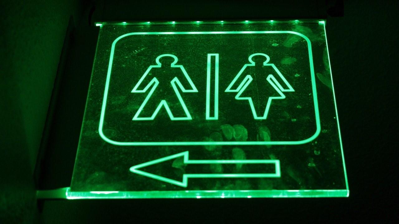 restroom bathroom sign